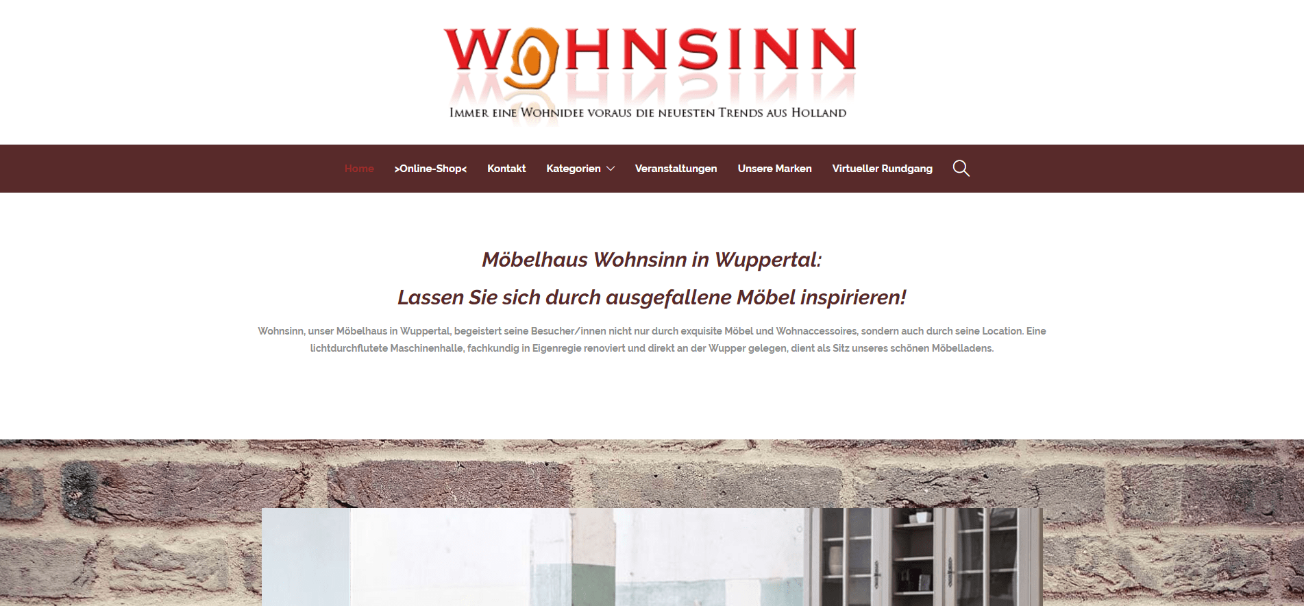 wohnsinn wuppertal webdesign grafikdesign homepage erstellung werbeagentur essen. Black Bedroom Furniture Sets. Home Design Ideas